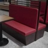 Sofá de cuero de madera para el restaurante