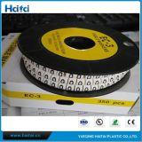 China-Fabrik-bester Preis-nützliche runde flache Klipp-Kabel-Kennsatz-Markierungen