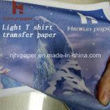 Papier de transfert thermique de film d'unité centrale de jet d'encre de taille de feuille pour le T-shirt de coton et le tissu de coton