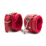 カラー品質PUの革崇拝物の想像の束縛の製品のカップルの手錠Sk0005のための大人の性のおもちゃ