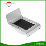 Indicatore luminoso impermeabile esterno solare luminoso del giardino della parete di obbligazione del sensore di movimento dei 16 LED