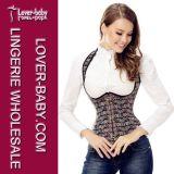 Broderie de corset de lingerie de sexe plus bustier pour la femme (L42656-2)