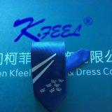 Cravate personnalisée par polyester avec le logo à la grande extrémité