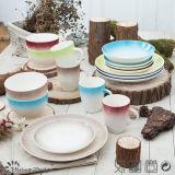 Ensemble de vaisselle de la couleur 16PCS de gradient de peinture de main