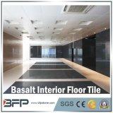 Mattonelle poco costose naturali cinesi del basalto per il pavimento/scala/paesaggio nel colore nero