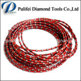 Stone Diamond Cutting Profiling Rope Diamond Tools Scie à grains de granit