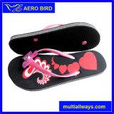 Sapatas da sandália do deslizador do PE para a menina com flor bonita