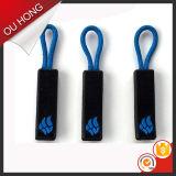 Пулер застежки -молнии изготовленный на заказ кремния конструкции логоса резиновый