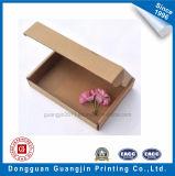 Caixa de empacotamento ondulada Foldable do papel de embalagem de Brown