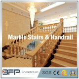 Escada de mármore de pedra popular/etapas/Step&Riser para a decoração da entrada/casa de campo/hotel