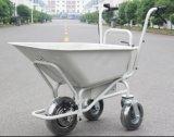Carro de jardín eléctrico del metal de tres ruedas con dos manetas (HG-203)