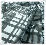 Polyester-Chiffon- Plaid-Gewebe-Drucken, gesponnenes Gewebe und Gewebe für Kleid