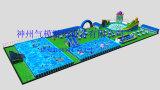 Sosta mobile gonfiabile gigante dell'acqua