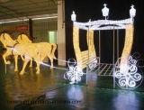 Chevaux Pumpkin Carriage LED Lumière de Noël