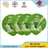 Escrituras de la etiqueta del papel de aluminio de los productos lácteos