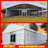 固体壁テントのガラス壁のドームの形党500人の結婚式の玄関ひさしのテント