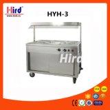 Machine électrique de traitement au four de matériel d'hôtel de matériel de cuisine de machine de nourriture de matériel de restauration de BBQ de matériel de boulangerie de la CE du chariot de réchauffeur de plaque (HYH-3)