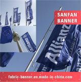 Exposition annonçant le drapeau promotionnel de signe d'étalage
