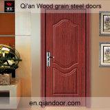 Дверь черного Veneer грецкого ореха стальная с пожаробезопасной доской