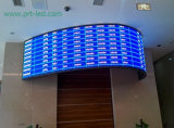실내 호리호리한 알루미늄 풀 컬러 아크 LED 커튼 (P5.68, P6.25, P8.928)