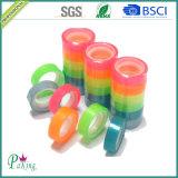 Fita dos artigos de papelaria da escola da cor BOPP do arco-íris multi com bom Stickness