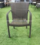 Chaise extérieure conçue de rotin simple