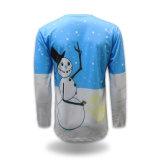 De T-shirt van de lange Mensen Van uitstekende kwaliteit van de Druk van de Sublimatie van de Hitte van de Koker