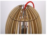 Lumière en bois de pendant du matériau E27 DEL