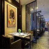 Design moderno de corte a laser tela de partição tela de painel de parede do restaurante