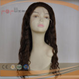 Волнистый тип парик парика шнурка полных волос девственницы полный