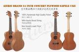 Marca de fábrica de Aiersi Ukulele de caoba de Hawaii del concierto de 23 pulgadas para la venta