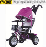 Новые мать трицикла младенца и трицикл малышей трицикла детей несущей младенца