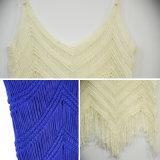 L'été sexy de femmes a tricoté des dessus de glissade avec le bord de frange
