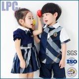 2016년 OEM 여름 편리한 최신 판매 기본적인 면 아이들 교복