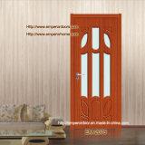 PVC Flush Door Inside Solid Wood, Veneer avec le PVC