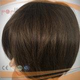 El color completo de Brown del honor del cordón de Teid de la mano de la longitud corta blanqueado anuda la peluca del Mens