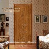 Porte en verre intérieure de PVC de porte de porte en bois en bois de porte de porte
