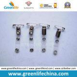 Accessoires lisses d'insigne de mode de clip en métal de bouledogue d'approvisionnement bon marché d'usine