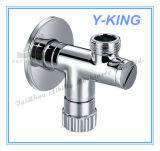 Válvula de ángulo de latón cromado de baño WC (YD-5034)