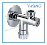 Válvula de ângulo de bronze chapeada cromo para o toalete do banheiro (YD-5034)