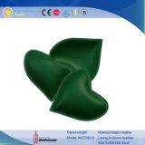 Peso de papel de cuero de encargo al por mayor en forma de corazón de Promotionla (4774R12)