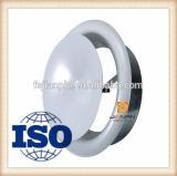 Grade de ar redonda, grade de válvula de disco, peças de HVAC de liga de alumínio