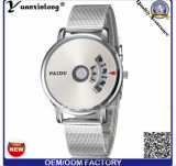Reloj analogico inoxidable del deporte del cuarzo de la fecha de la venda de acero del reloj de los hombres calientes de Yxl-730 Paidu
