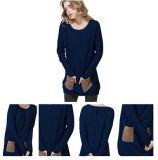 Maglione delle donne con le caselle laterali