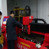 Máquina de estaca dupla do metal do laser do CNC da fibra da movimentação do equipamento do laser