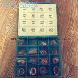 Латунные ассортимент медным набивкой шайбы/коробка циновки уплотнения набора 16size 160PCS