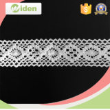 Cordón decorativo horneado a la crema y con pan rallado al por mayor barato del recorte del ganchillo del algodón para la alineada