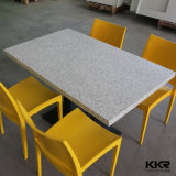 Blanco Solid Surface Mesa de centro moderna Fast Food Restaurant Dining Table