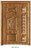 Porta de porta de entrada e filho Porta de entrada porta de segurança Porta de metal porta de segurança (AT-9016)
