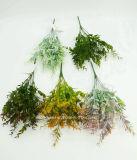 인공 플라스틱 또는 푸른 잎 풀이 나게 하십시오로 7개의 줄기 (XF90202)